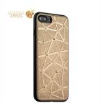 Силиконовый чехол-накладка для iPhone 8 Plus COTEetCI Star Diamond Case (CS7033-GD), цвет золотистый
