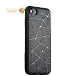 Силиконовый чехол-накладка для iPhone 7 COTEetCI Star Diamond Case (CS7032-BK), цвет черный