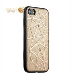 Силиконовый чехол-накладка для iPhone 7 COTEetCI Star Diamond Case (CS7032-GD), цвет золотистый