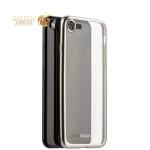 Чехол-накладка силикон Deppa Gel Plus Case D-85282 для iPhone SE (2020г.) 0.9 мм Серебристый матовый борт