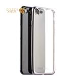 Силиконовый чехол-накладка для iPhone 7-Deppa Gel Plus Case D-85283 (0.9 мм), цвет прозрачный (графитовый борт)