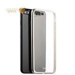 Силиконовый чехол-накладка для iPhone 7 Plus Deppa Gel Plus Case D-85287 (0.9 мм), цвет прозрачный (серебристый борт)