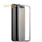 Силиконовый чехол-накладка для iPhone 7 Plus-Deppa Gel Plus Case D-85288 (0.9 мм), цвет прозрачный (графитовый борт)