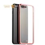 Силиконовый чехол-накладка для iPhone 7 Plus-Deppa Gel Plus Case D-85290 (0.9 мм), цвет прозрачный (борт розовое золото)