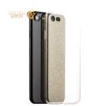 Силиконовый чехол-накладка с блестками для iPhone 8-Deppa Chic Case D-85297 (0.8 мм), цвет золотистый