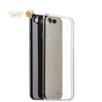 Чехол-накладка силикон Deppa Chic Case с блестками D-85298 для iPhone SE (2020г.) 0.8 мм Черный
