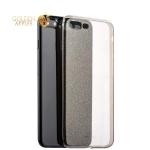 Силиконовый чехол-накладка iPhone 7 Plus Deppa Chic Case с блестками D-85301 (0.8 мм), цвет черный