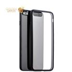 Супертонкий силиконовый чехол-накладка для iPhone 7 Plus-Deppa Neo Case D-85280 (0.3 мм), прозрачный (черный борт)
