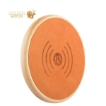 Беспроводное зарядное устройство iCarer Genuine Leather Fast Wireless charging (5-9V-1A), цвет хаки