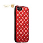 Силиконовый чехол накладка для iPhone 7 Plus COTEetCI Gorgeous Silicone Case CS7035-RW, цвет розово-белый