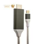 Переходник Type-C - HDMI кабель 2.0 м, цвет белый