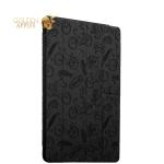 Полиуретановый чехол книжка для iPad 9.7 (2017 г.) Deppa Wallet Onzo с тиснением 1.0мм D-88033, цвет темно-серый