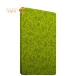 Полиуретановый чехол книжка для iPad 9.7 (2017 г.) Deppa Wallet Onzo с тиснением 1.0мм D-88035, цвет зеленый