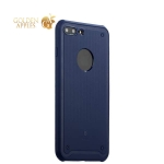 Силиконовый чехол-накладка для iPhone 8 Baseus Shield Case (ARAPIPH7-TS15), цвет синий