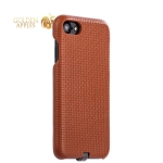 Накладка кожаная iCarer для iPhone 8 (4.7) Woven Pattern Series Real Leather Charging Connector (RIP711br) Коричневая