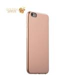 Супертонкий силиконовый чехол-накладка для iPhone 6S Plus / 6 Plus - J-Case Shiny Glazed Series (0.5 мм) Jet Gold, цвет золотистый