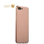 Супертонкий силиконовый чехол-накладка для iPhone 8 Plus - J-Case Shiny Glazed Series (0.5 мм) Jet Gold, цвет золото