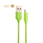 MicroUSB кабель Hoco X6 Khaki (1.0 м), цвет зеленый