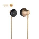 Наушники Hoco M18 Gesi Metallic Universal Earphone with mic (1.2 м) с микрофоном Gold Золотые