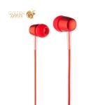 Наушники Hoco M10 Metal Universal Earphones with mic (1.2 м) с микрофоном Red Красные