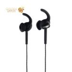 Наушники вкладыши с микрофоном Hoco M15 Universal Earphones for sport and walking with mic Black, цвет черный
