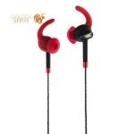 Вакуумные наушники вкладыши с микрофоном Hoco M15 Universal Earphones for sport and walking with mic (1.2 м) Red, цвет красный