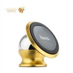 Магнитный автомобильный держатель для смартфонов Hoco CA6 Full-metal magnetic vehicle holder, цвет золотистый