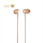Наушники Hoco M10 Metal Universal Earphones with mic (1.2 м) с микрофоном Gold Золотые