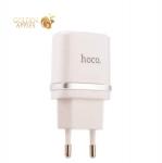Сетевое зарядное устройство Hoco C12 Smart dual USB charger (2USB: 5V max 2.4A), цвет белый