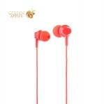 Вакуумные наушники вкладыши с микрофоном Hoco M14 Inital Sound Universal Earphones with mic Red, цвет красный