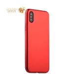 Силиконовый чехол-накладка для iPhone XS J-Case Shiny Glazed Series (0.5 мм) Jet Red, цвет красный