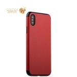 Силиконовый чехол-накладка для iPhone XS J-Case Jack Series (с магнитом), цвет красный