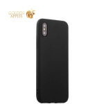Силиконовый чехол-накладка для iPhone XS J-Case Delicate Series Matt (0.5 мм), цвет черный