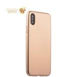 Силиконовый чехол-накладка для iPhone XS J-Case Delicate Series Matt (0.5 мм), цвет золотистый