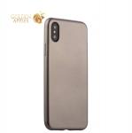 Силиконовый чехол-накладка для iPhone XS J-Case Delicate Series Matt (0.5 мм), цвет графитовый