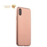 Силиконовый чехол-накладка для iPhone XS J-Case Delicate Series Matt (0.5 мм), цвет розовое золото