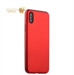 Силиконовый чехол-накладка для iPhone XS J-Case Delicate Series Matt (0.5 мм), цвет красный