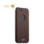 Силиконовый чехол-накладка для iPhone 8 J-Case Jack Series (с магнитом), цвет коричневый