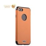 Силиконовый чехол-накладка для iPhone 8 J-Case Jack Series (с магнитом), цвет светло-коричневый