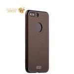 Силиконовый чехол-накладка для iPhone 8 Plus J-Case Jack Series (с магнитом), цвет коричневый