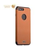 Силиконовый чехол-накладка для iPhone 8 Plus J-Case Jack Series (с магнитом), цвет светло-коричневый