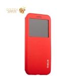 Силиконовый чехол-книжка для iPhone XS Coblue Elegance Flip Cover Series, цвет красный