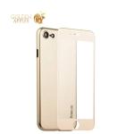 Чехол-накладка супертонкая Coblue Slim Series PP Case & Glass (2в1) для iPhone 8 (4.7) Золотистый