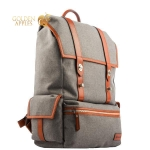 Рюкзак для MacBook iCarer Leather and Fabric Durable Travel Hiking Backpack, цвет серый