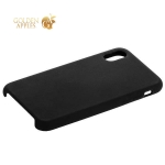 Силиконовый чехол-накладка для iPhone X COTEetCI Liquid Silicone Case (CS8012-BK), цвет черный