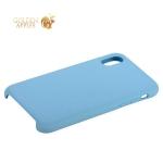 Силиконовый чехол-накладка для iPhone X COTEetCI Liquid Silicone Case (CS8012-LB), цвет голубой