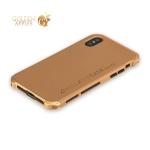 Алюминиевый чехол-накладка для iPhone X Element Case Solace, цвет золотистый