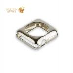 Силиконовый чехол для Apple Watch Series 2 / 3 (38 mm) COTEetCI TPU case (CS7040-TS), цвет серебристый