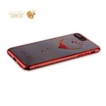 Пластиковый чехол-накладка для iPhone 8 Plus KINGXBAR со стразами Swarovski 49F, цвет красный Сердце