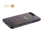 Пластиковый чехол-накладка для iPhone 7 Plus KINGXBAR со стразами Swarovski 49F, цвет черный Сердце